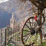 vista sul campanile a Castelvecchio di Rocca Barbena