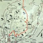 cartina del sentiero da Cervo a Villa Colla