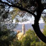 La chiesa dei corallini vista dal parco di Ciapà