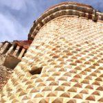 Castel Govone- particolare della torre diamantata