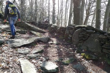 la strada megalitica di Alpicella