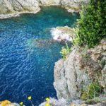 Bonassola - la baia sotto la Madonnina della Punta