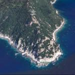 Punta Manara e Ciappa du lu viste da Google Earth