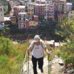 la scalinata da Manarola verso Volastra