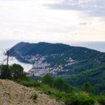 Panorama dall'alta via Baia del Sole nei pressi di Poggio Brea