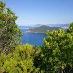 Il panorama a ovest da Punta Baffe