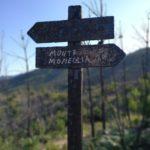 Cartello dopo incendio Monte Moneglia