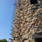 La scaletta del torrione di Punta Baffe