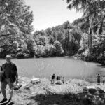 Pescatori al lago dell Lame in Val D'Aveto