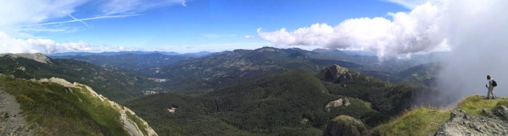 Panorama dalla vetta del Monte Penna