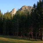 Monti Penna e Pennino al tramonto visti dalle Casermette del Monte Penna