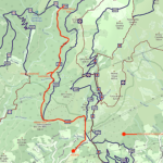 Cartina - Lago della Tina