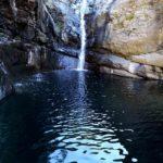 la cascata del Lago della Tina