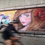 Bocca di rosa nei graffiti di Arenzano