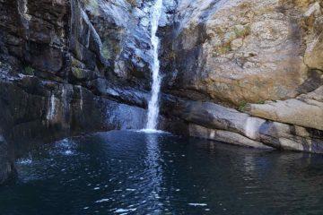 la cascata al Lago della Tina