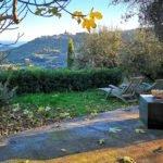 Vista di Lingueglietta in autunno dal giardino di Carin Grudda