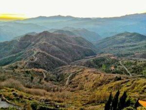 Il vasto panorama da Bajardo