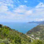 Verso la Madonna di Montenero, il golfo delle 5 terre