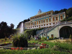 Villa Duchessa di Galliera vista dal giardino all'italiana