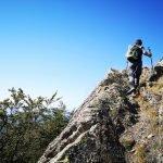 Camminando sulla cresta rocciosa del Ramaceto
