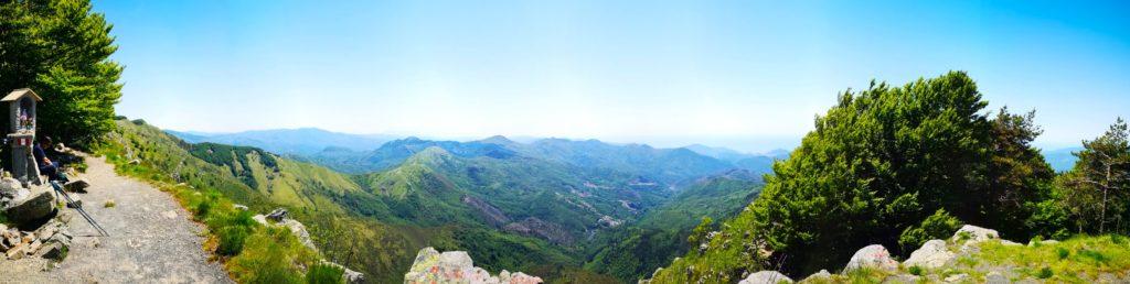 Vista dal Monte Zatta di Ponente