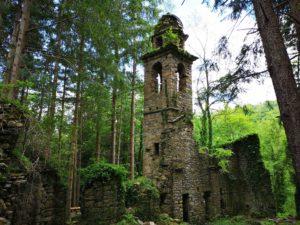 I ruderi di San Martino di Licciorno, immersi nel bosco