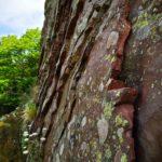 Strati di diaspro rosso nella cava di Valle Lagorara