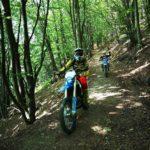 motocross nella faggeta del Monte Caucaso
