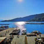 Il molo di Portovenere da cui parte il battello per Palmaria
