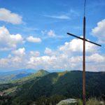 La croce sulla cima del Monte Coppigliolo