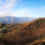 Panorama a Ovest dal sentiero dei forti