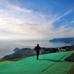 Punto di decollo di parapendio Sant'Elena sopra Bergeggi