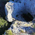 Bacino per l'acqua nella roccia dell'Acropoli
