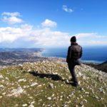 Vista sulla costa dalla cima