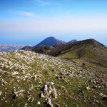 Il monte sopra Toirano visto dal Monte Acuto