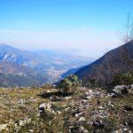 Panorama (con foschia) dal sentiero del Monte Acuto