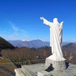 La statua di Gesù al Santuario di Monte Croce