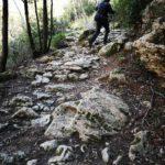 Il sentiero sassoso per Pian Marino