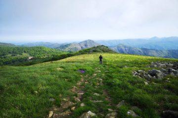 Sulla cresta del Monte Reixa