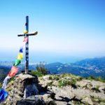 La croce sulla cima di Punta Martin