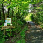 L'imbocco del sentiero per il Forte Geremia