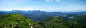 Panorama dal Monte Alpesisa