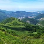 Panorama verso il mare da Alpesisa