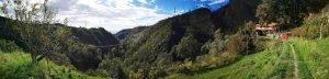 La valle del Rio Gambaro vista da Ronco Inferiore