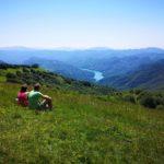 Vista del Brugneto dal Monte Antola