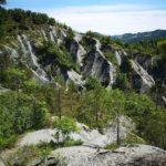Vista sui calanchi dal sentiero delle creste