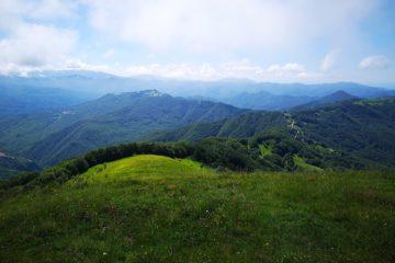 Vista dal Monte Carmo della faggeta e delle Capanne di Carrega