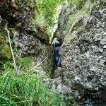Salendo nel canalino roccioso sul Monte Gifarco