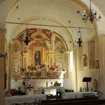 All'interno dell'Oratorio della SS Trinità di Vobbia