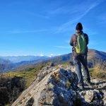 Sulla vetta della Rocca Liverna
